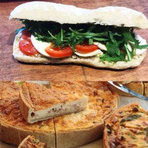 Sandwichs chauds - Paninis & Quiches